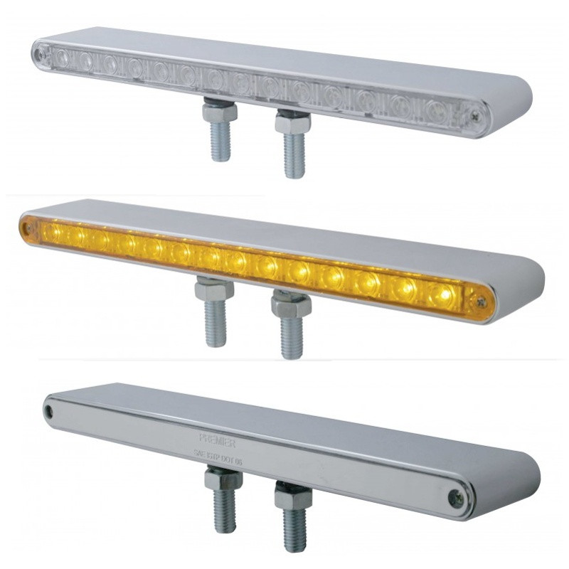 14 LED Double Face Light Bar Amber
