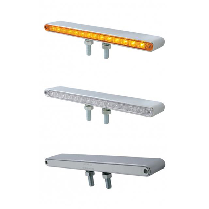 """12"""" Double Face LED Light Bar Amber Front & Red Back"""