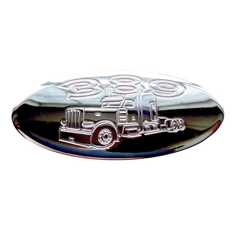 Lifetime Chrome Engraved Peterbilt 389 Unibilt Emblem