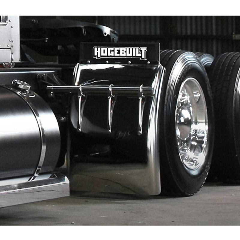 """Tube Bracket On TruckHogebuilt 34"""" Quarter Fender With Universal Mounting Kit"""