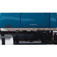 "Freightliner Cascadia 72"" Sleeper Panel With Mini LEDs On Blue Truck"