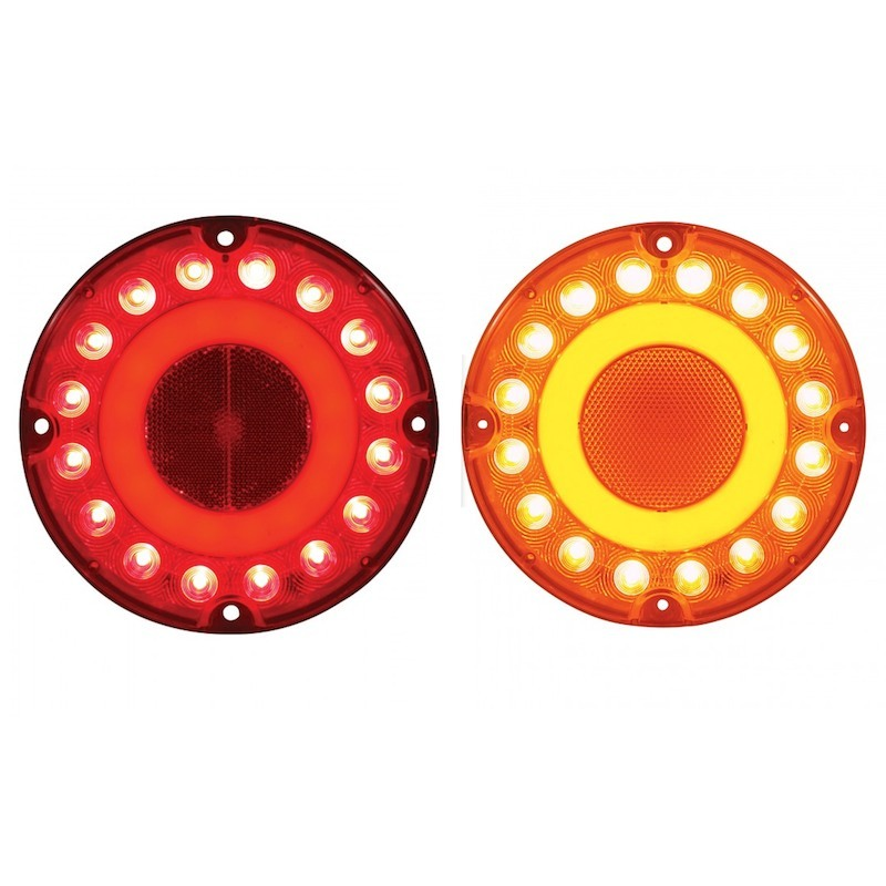 "7"" Round STT & PTC 32 LED GLO Light"