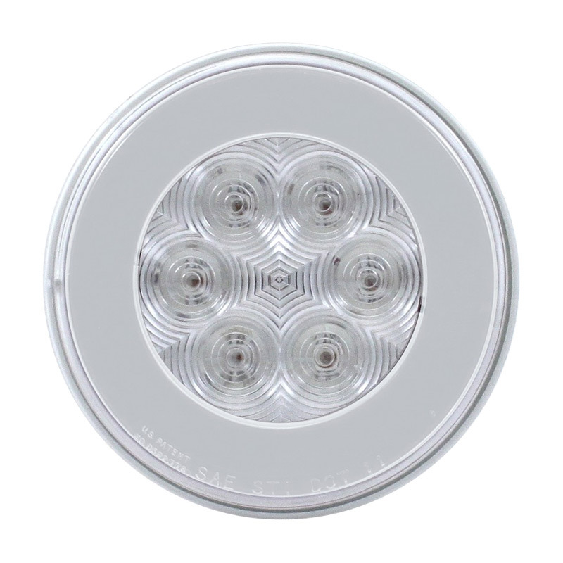"4"" Round Halo STT & PTC 21 LED GLO Light With Clear Lens"