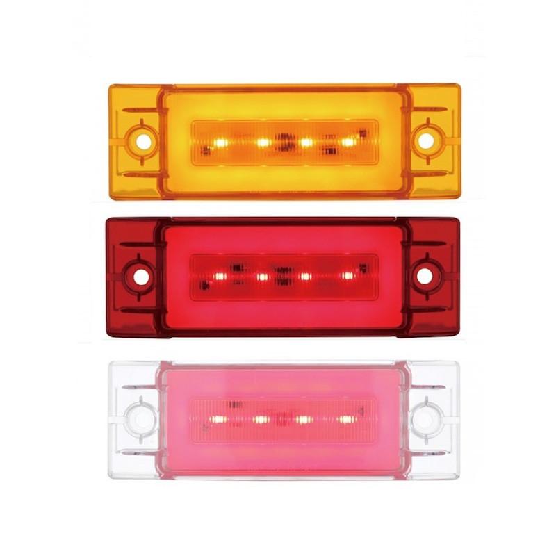 16 LED Large Rectangular Clearance Marker GLO Light Colors