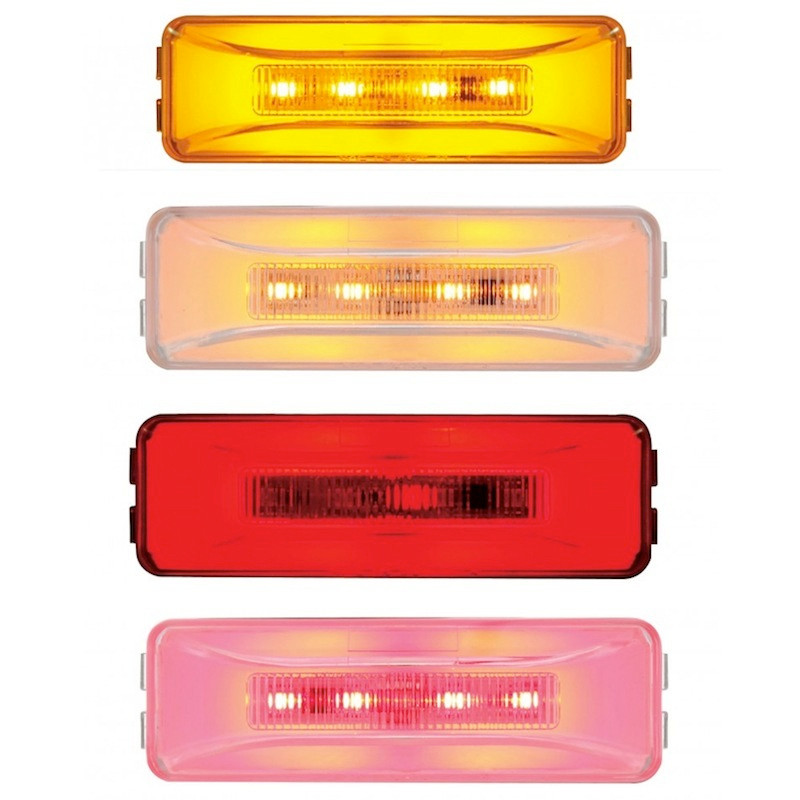 10 LED Rectangular Clearance Marker GLO Light Colors