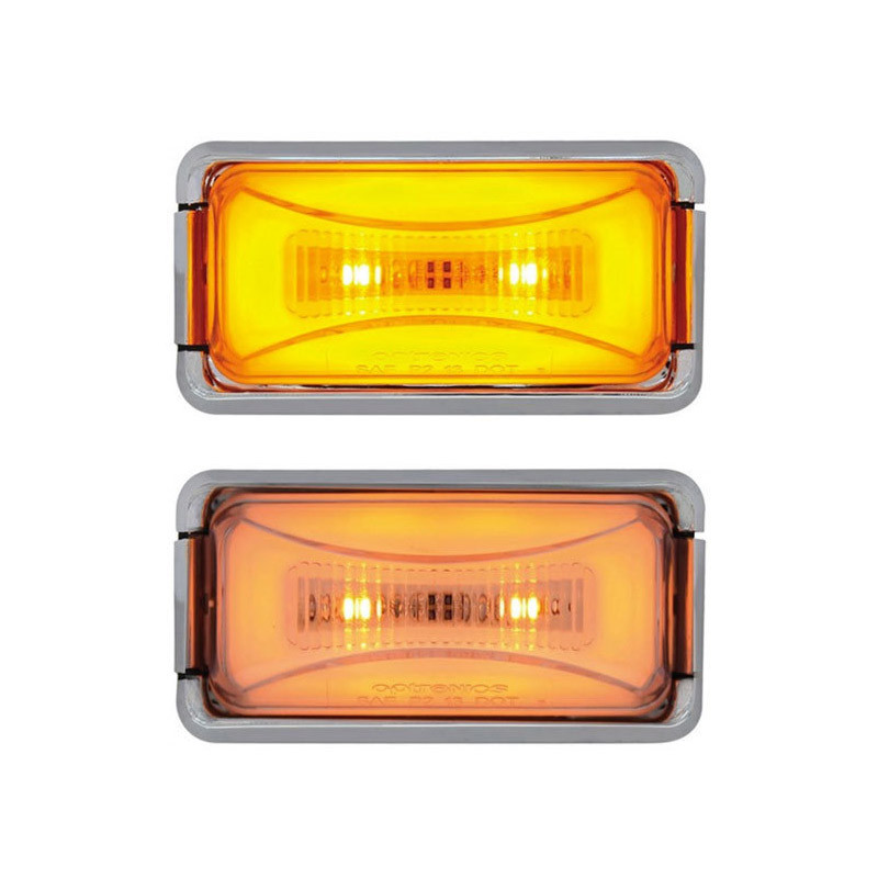 8 LED Rectangular Clearance Marker GLO Light Colors