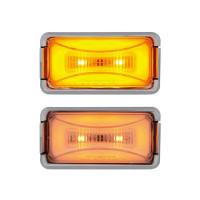 8 LED Rectangular Clearance Marker GLO Light Colors