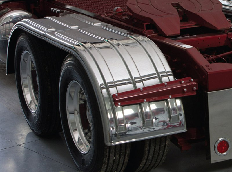 Big Truck Fenders Plastic : Minimizer series chrome poly fenders raney s truck parts