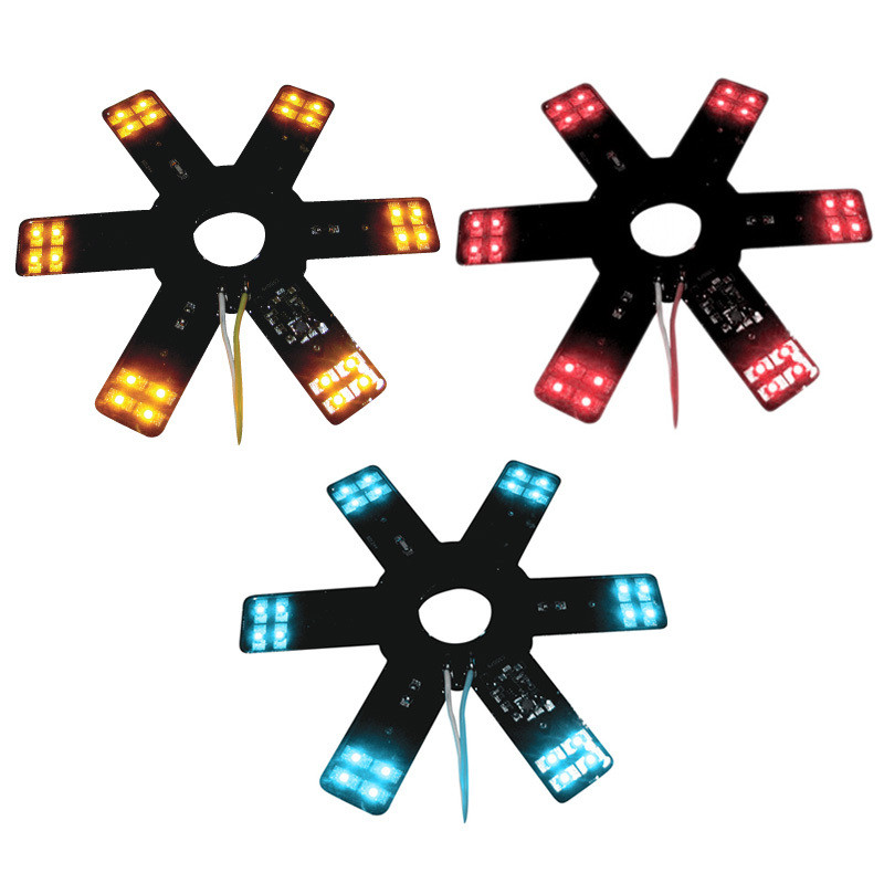 "8"" Star With LEDs For 15"" Donaldson & Vortox Air Breather Amber Red Blue"