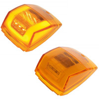 24 LED Cab GLO Light Amber Lens Amber LED