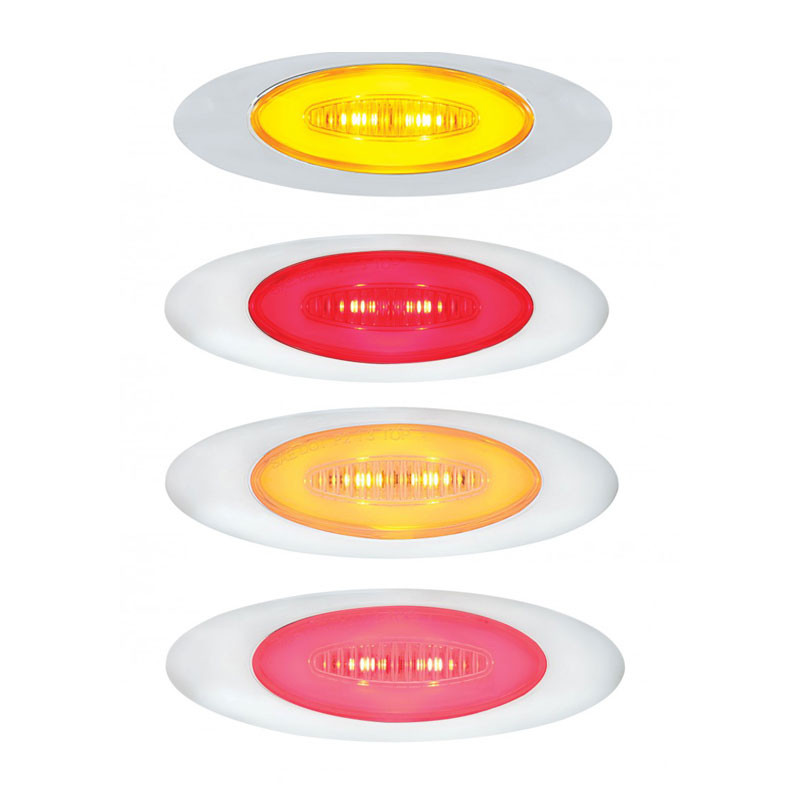 6 LED M5 Millenium Marker GLO Light Amber and Red