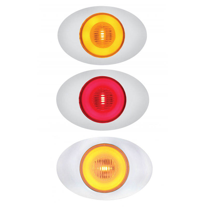 5 LED M3 Millenium Clearance Marker GLO Light Amber Red And Clear