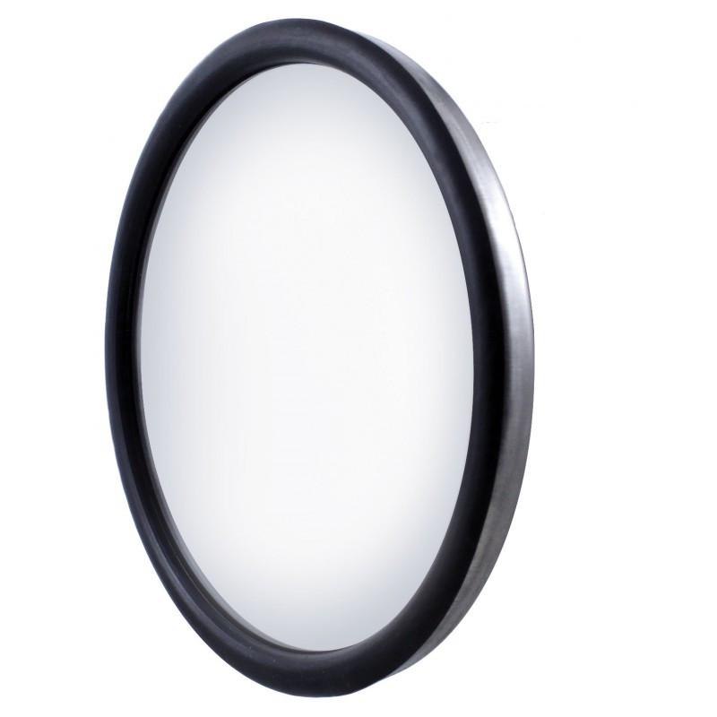 "8 1/2"" Stainless Steel Convex Heated Mirror"