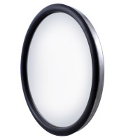 "8 1/2"" Stainless Steel Convex Heated Mirror"