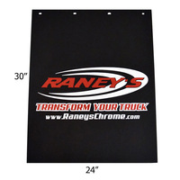 "Raney's Logo Rubber 24"" x 30"" Mud Flaps"