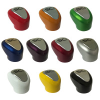 9 or 10 Speed Colored Shift Knobs Viper Red Orange Green Blue Purple Red Silver White Yellow Black