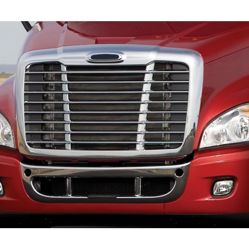 Freightliner Cascadia Behind Grill Bug Screen On Truck