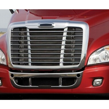 Grille Chrome with Bug Net Fit: Freightliner Century