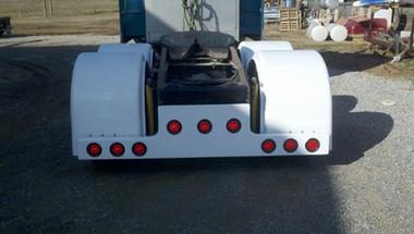 Universal Fiberglass T Bar Rear Bumper With 9 Light Cut