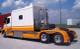 Semi Truck Fiberglass Full Fender Set With Low Light Holes & Brackets Painted Orange
