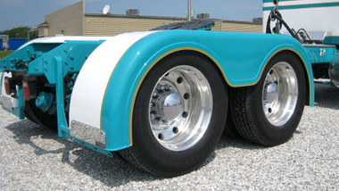Semi Truck Fiberglass Low Cut Full Fender Set With