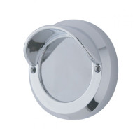 "Chrome 2"" Mirror Light Bezel With Visor"