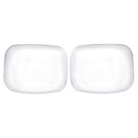 Freightliner Cascadia Chrome Hood Mirror Cover Set