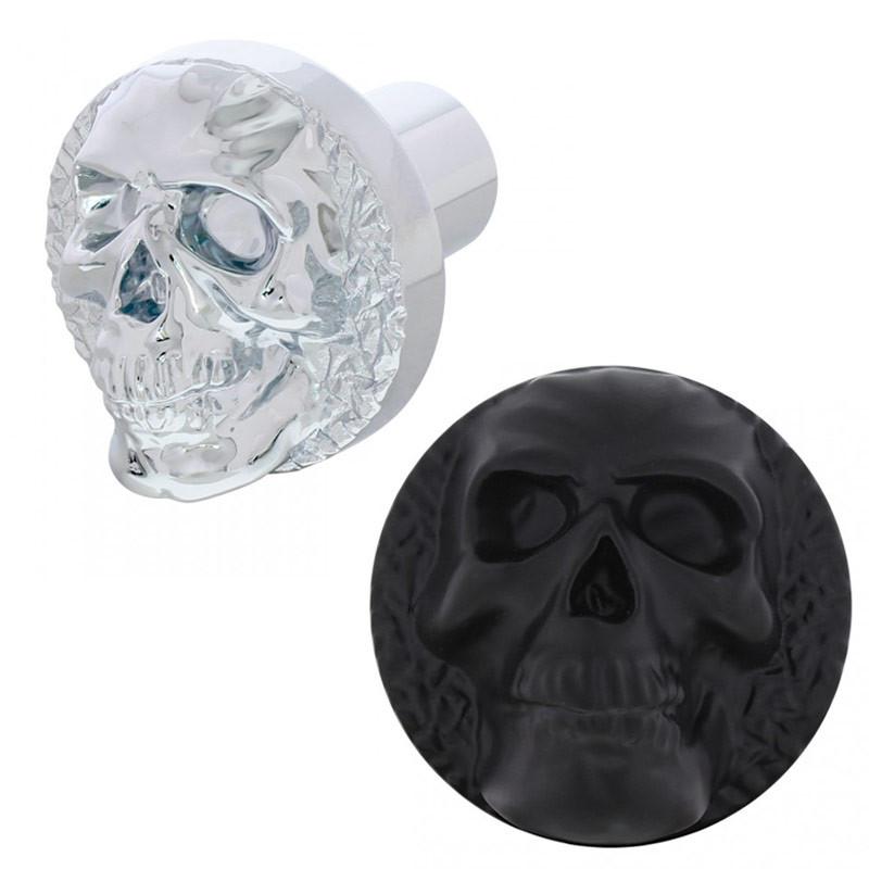 Skull Air Valve Knob Black Chrome