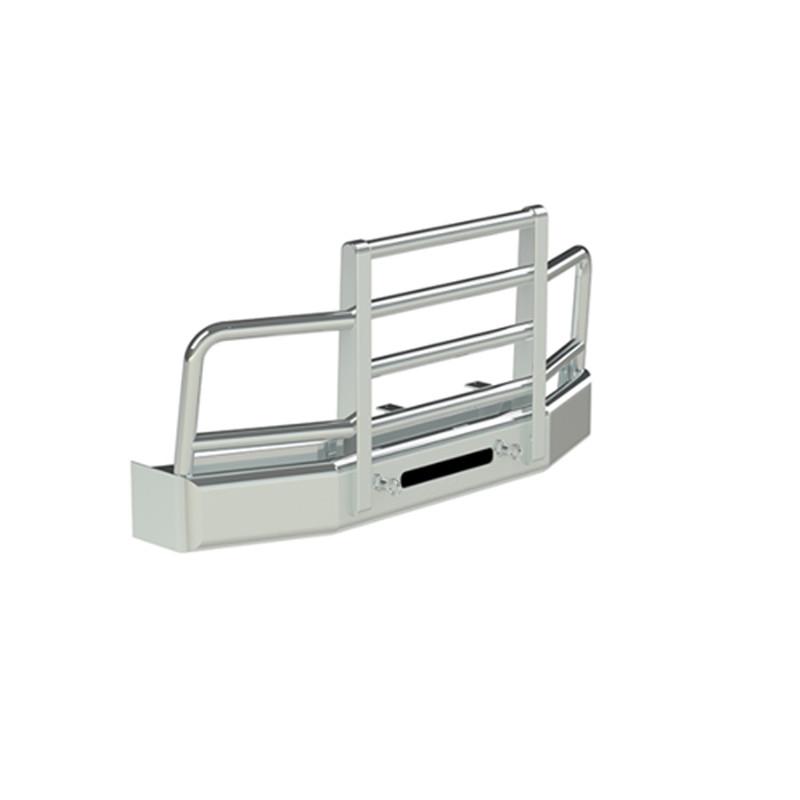 Peterbilt 579 Herd 4 Post Defender Bumper Grill Guard With Horizontal Bars