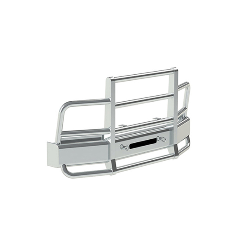 Kenworth T800 SBA Herd 2 Post Defender Bumper Grill Guard With Horizontal Bars