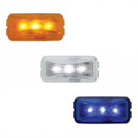 Small Rectangular LED Lights With Chrome Base