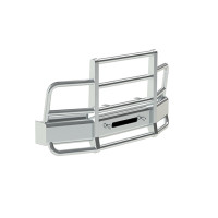 International 4300 4400 8500 SBA Herd 2 Post Defender Bumper Grill Guard With Horizontal Bars