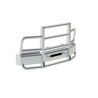 International 8500 SBA Herd 2 Post Defender Bumper Grill Guard With Horizontal Bars