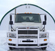 International 4300 4400 8500 SBA With Air Ride Herd 2 Post Defender Bumper Grill Guard On Truck