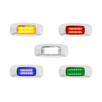 Rectangular 3.5 Inch 4 LED Clearance Marker Light