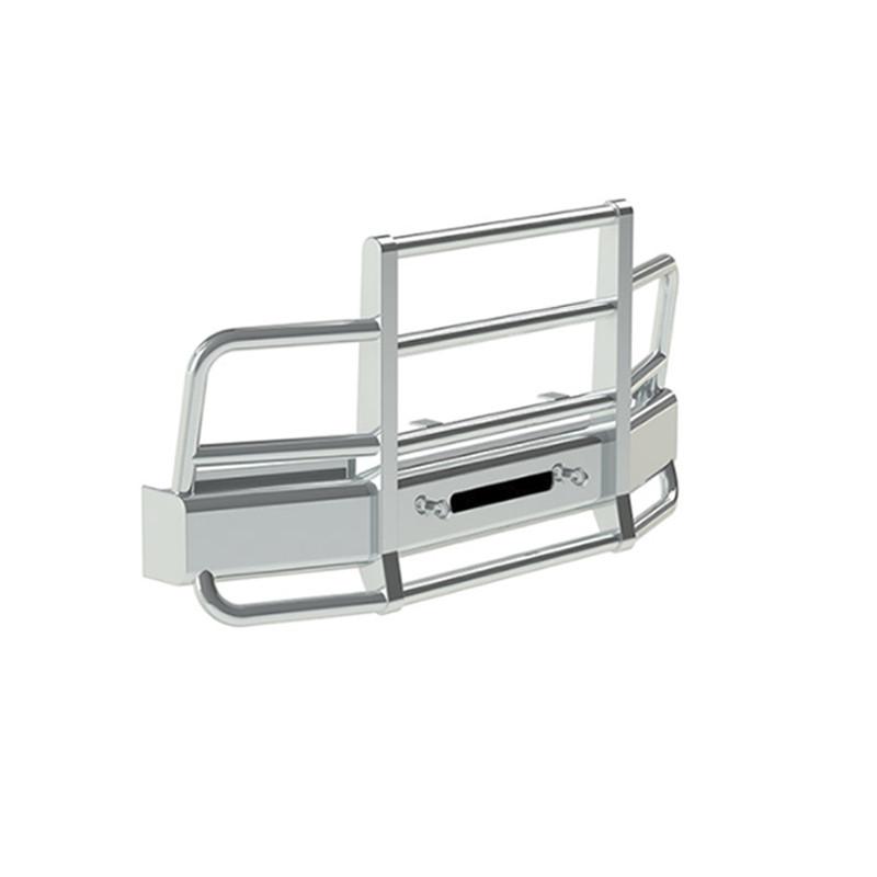 International 9200 9400 Herd 2 Post Defender Bumper Grill Guard With Horizontal Bars