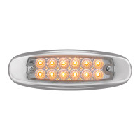 Ultra Thin Rectangular LED Light With Bezel Pete Style