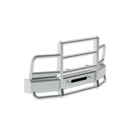 Peterbilt 337 348 SBA Herd 2 Post Defender Bumper Grill Guard With Horizontal Bars
