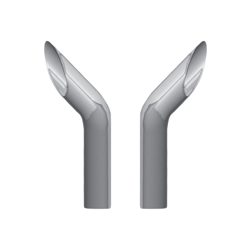 Bottom Exhaust 84 Inch Length 6 Inch Curved Reduce to 5 Inch O.D
