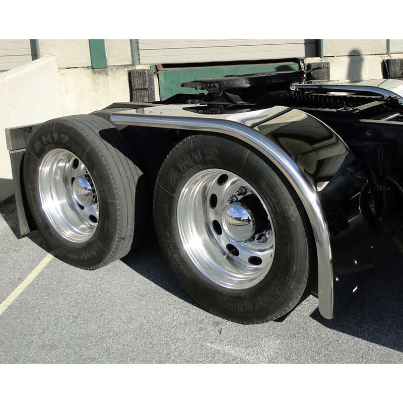 "Value Line Hogebuilt SS 80"" Half Tandem Ultimate Low Rider Fenders On Truck"