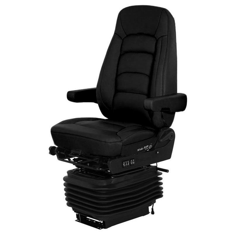 Bostrom Wide Ride II High Back Ultra Leather Serta Memory Foam Seat Angled