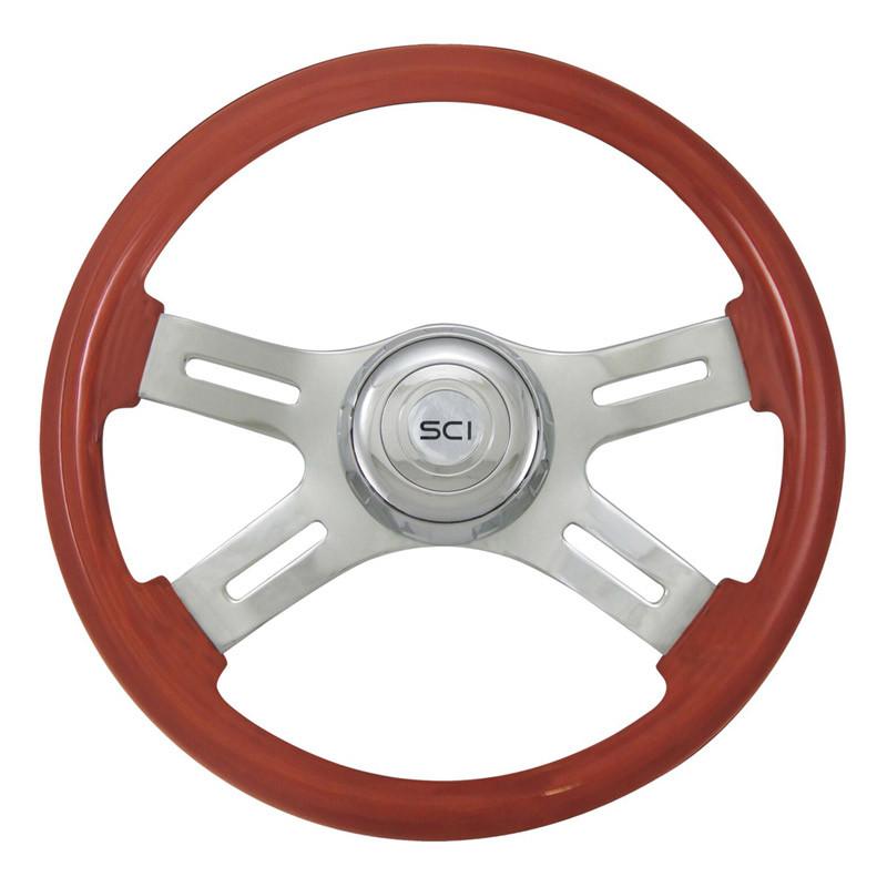 """Classic Mahogany 16"""" Steering Wheel"""