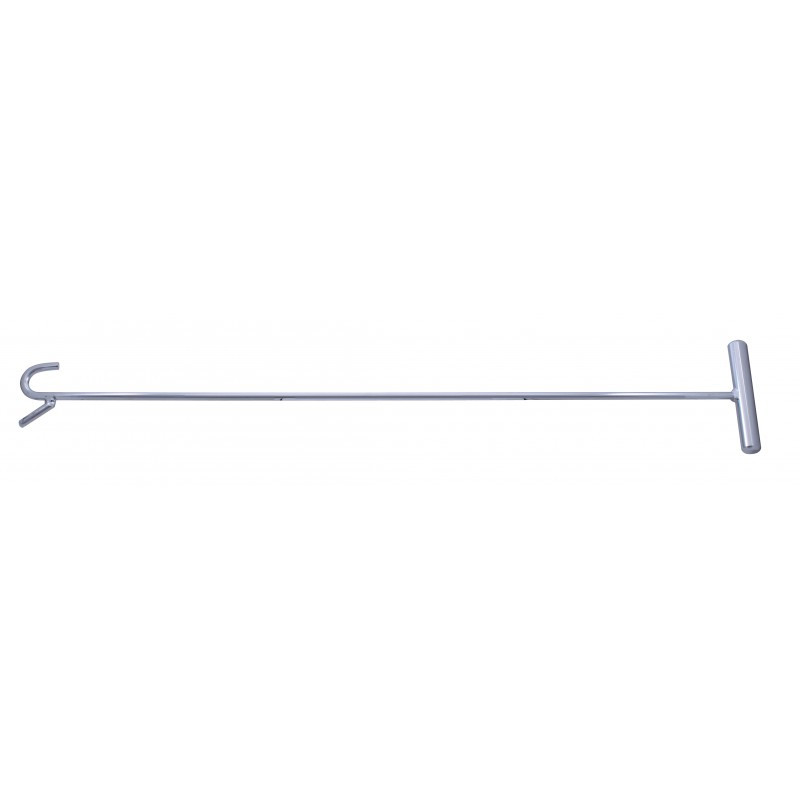 Chrome Fifth Wheel Pin Puller With Hook