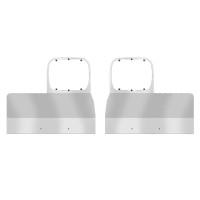 Peterbilt 378 379 Stainless Steel Single Headlight Mount Fender Guards