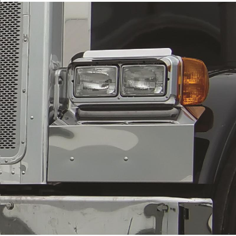 Peterbilt 379 389 Solid Fender Guard Headlight Surround