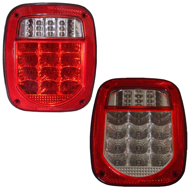 Big Rig Tail Lights : Universal combination square led tail light raney s