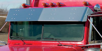 "Freightliner Classic FLD 13.5"" Flat Top Visor With Cab Mounted Mirrors"