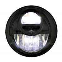 "7"" LED Projection Blackout Headlight High Beam"