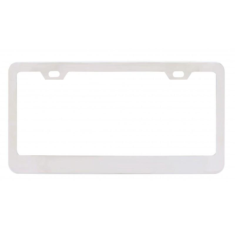 Chrome Wide Bottom 2 Hole License Plate Frame