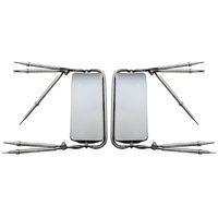 "West Coast 7"" x 16"" Stainless Steel Mirror Assembly Front View"